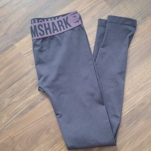Gymshark Fit Leggings Charcoal/Purple